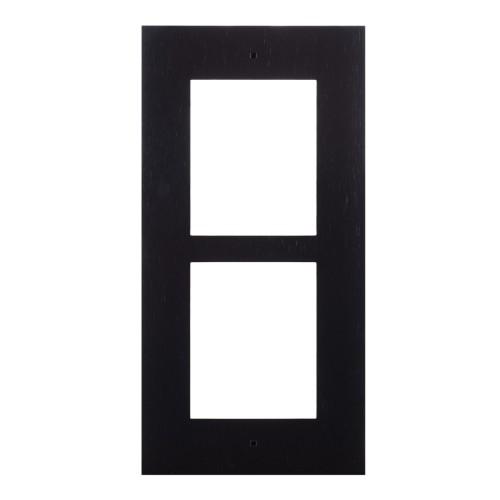 2N® Cadre pour installation encastrée 2 modules 9155012B (noir)