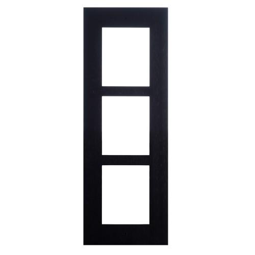 2N® Cadre pour installation encastrée 3 modules 9155013B (noir)
