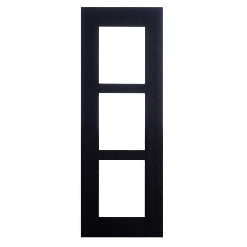 2N® IP Verso - Скрытая монтажная рама для 3-модулей 9155013B (черная)