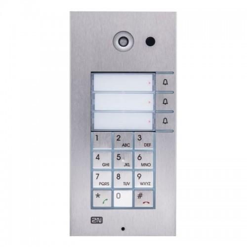 2N® IP Vario 3 кнопки с клавиатурой и камерой 9137131CKU