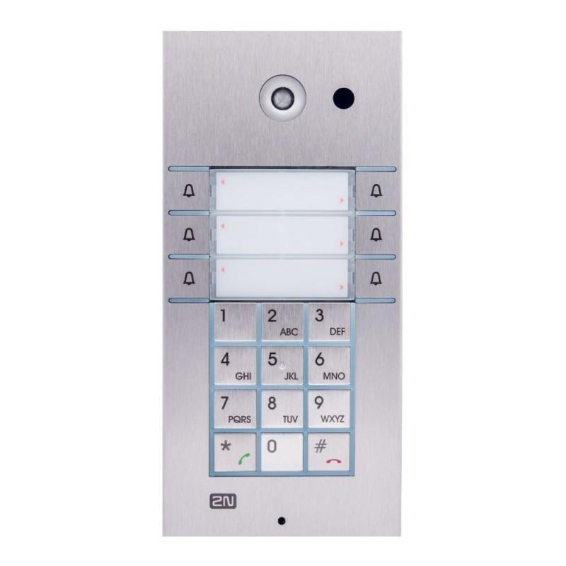 2N® IP Vario 3x2 кнопки с клавиатурой и камерой 9137161CKU