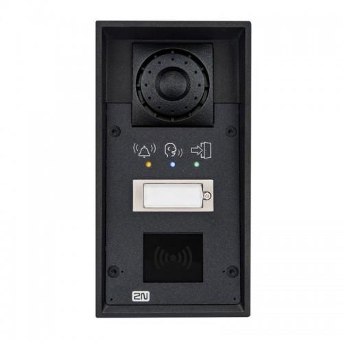 2N® IP Force 1 bouton, pictogrammes, prêt pour le lecteur 9151101RPW