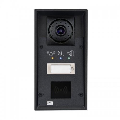 2N® IP Force 1 bouton, la caméra, pictogrammes, prêt pour le lecteur 9151101CRPW