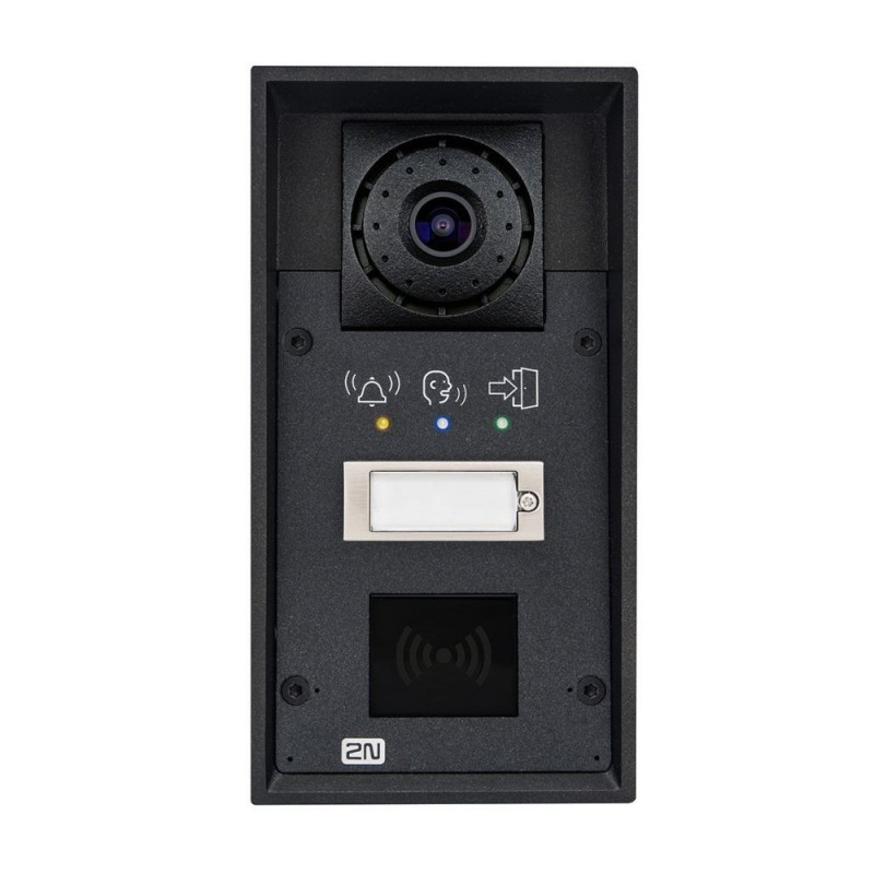 2N® IP Force 1 кнопка & камера & пиктограммы (считыватель карт опционально) 9151101CRPW