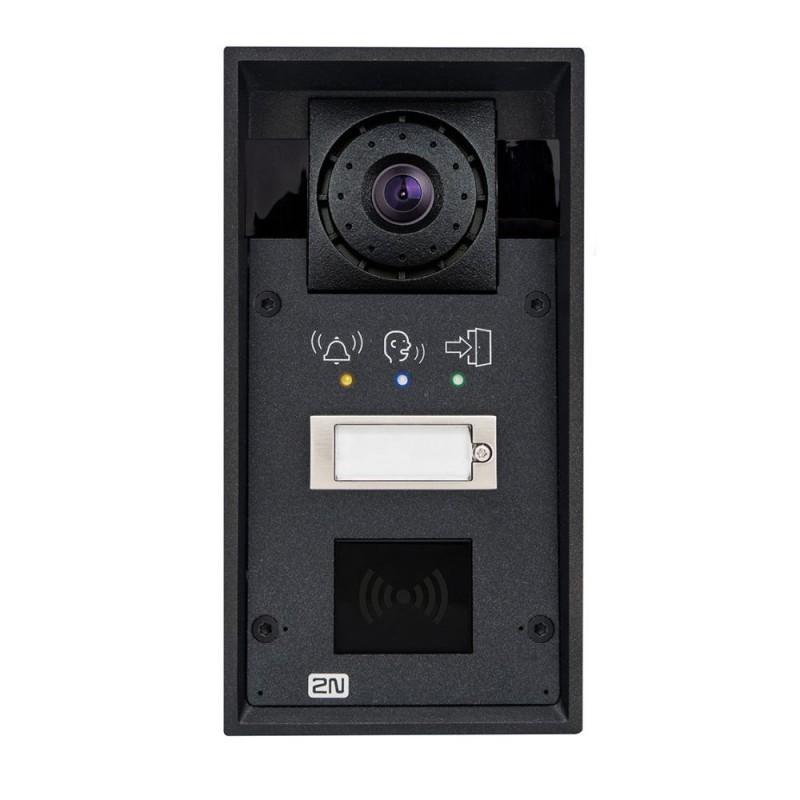 2N® IP Force 1 botón con cámara HD & pictogramas (preparado para lector de tarjetas) 9151101CHRPW