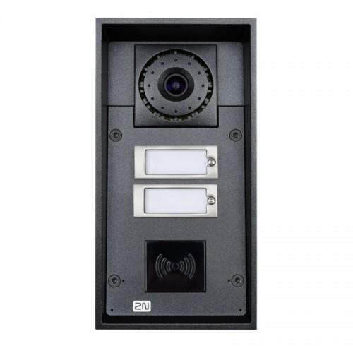 2N® IP Force 2 boutons, la caméra, prêt pour le lecteur 9151102CRW
