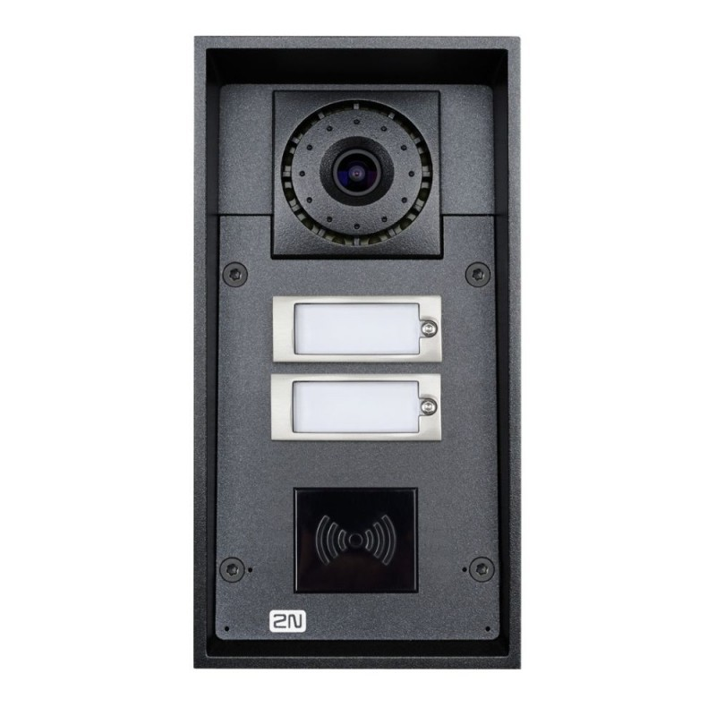 2N® IP Force 2 botones con cámara (preparado para lector de tarjetas) 9151102CRW
