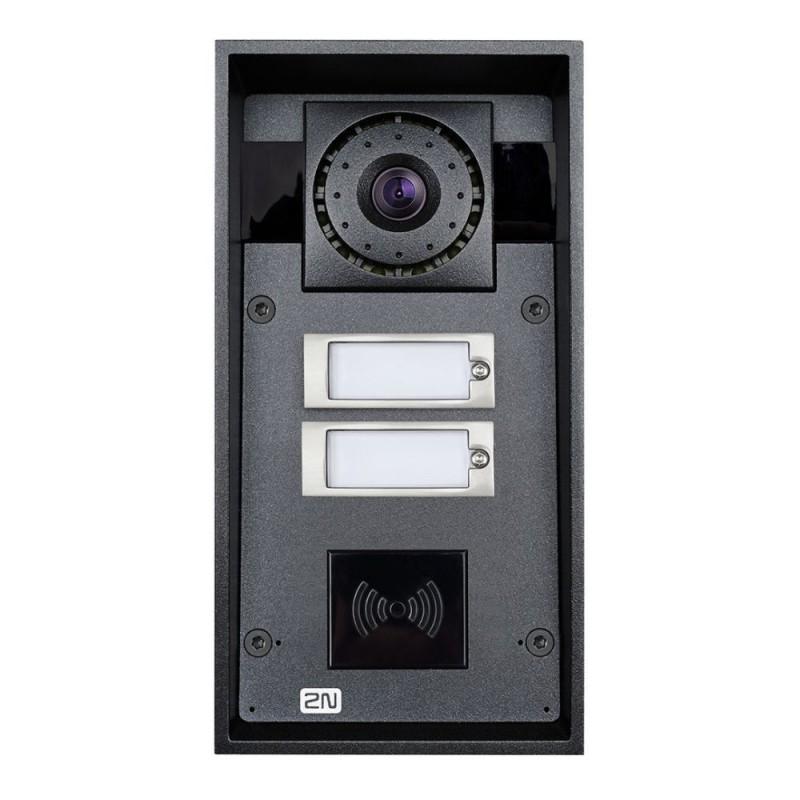 2N® IP Force 2 botones con cámara HD (preparado para lector de tarjetas) 9151102CHRW