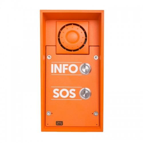 2N® IP Safety - 2 кнопки и динамик 10 Вт 9152102W