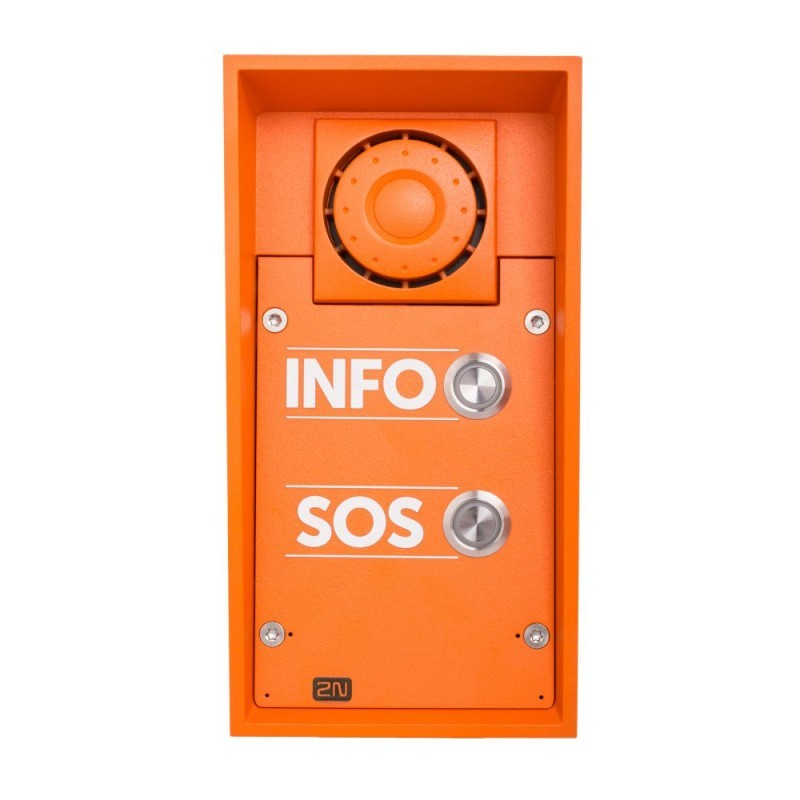 2N® Helios IP Safety - 2 кнопки и динамик 10 Вт 9152102W