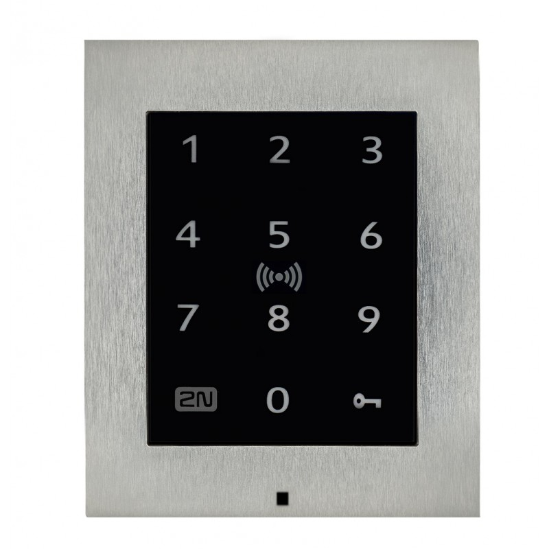 2N® Access Unit 2.0 Touch keypad & RFID - 125kHz, secured 13.56MHz, NFC 9160336-S