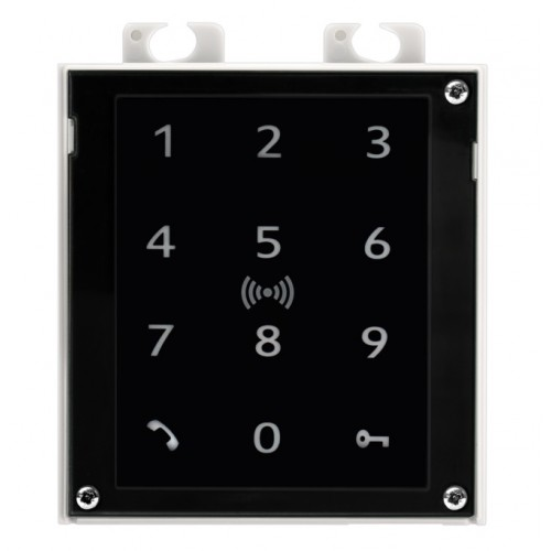2N® IP Verso - Clavier tactile et lecteur RFID 125 kHz, Secured 13.56 MHz, NFC 9155083