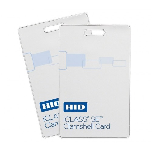 iCLASS SE Clamshell Contactless Smart Card 2k bit with 2 application areas