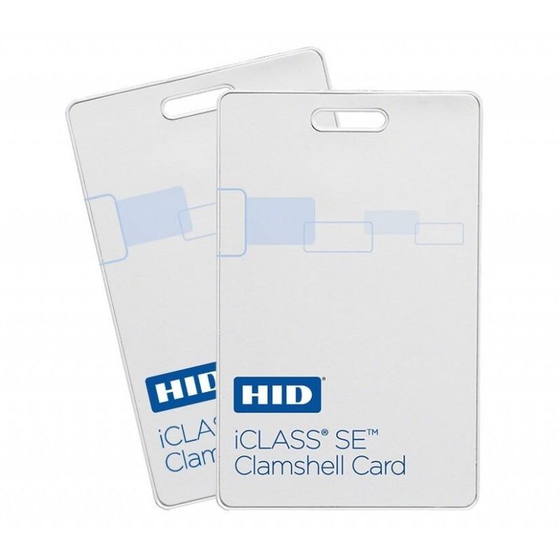 iCLASS SE Clamshell Бесконтактная смарт-карта 2k бит с 2 областями применения