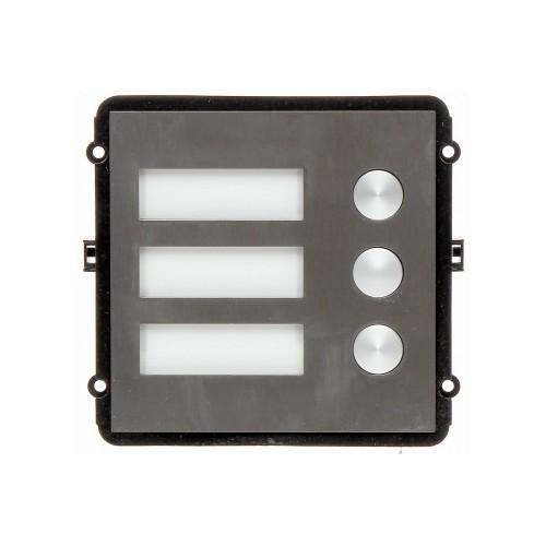 VTO2000A-B – Módulo de 3 botones