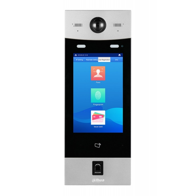 VTO9341D – Apartment Outdoor Station, 2MP, Mifare, Touch Screen, IP55, IK07
