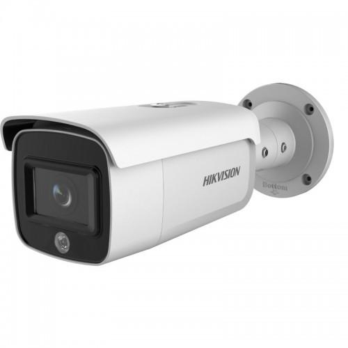 DS-2CD2T46G1-4I/SL – 4MP AcuSense Cámara IP Tubular con Luz Estroboscópica y Alarma de audio 6MM
