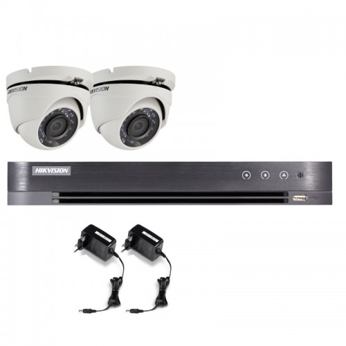 T22E28D – Hikvision 2MP Minidomo Turbo HD Kit