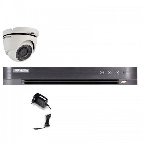 T12E28D – Hikvision 2MP Minidomo Turbo HD Kit