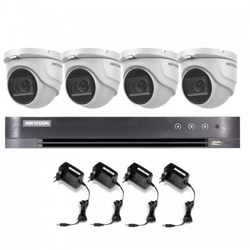 T45E28D – Hikvision 5MP Minidomo Turbo HD Kit