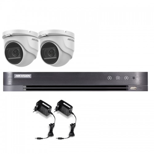 T25E28D – Hikvision 5MP Tourelle Turbo HD Kit