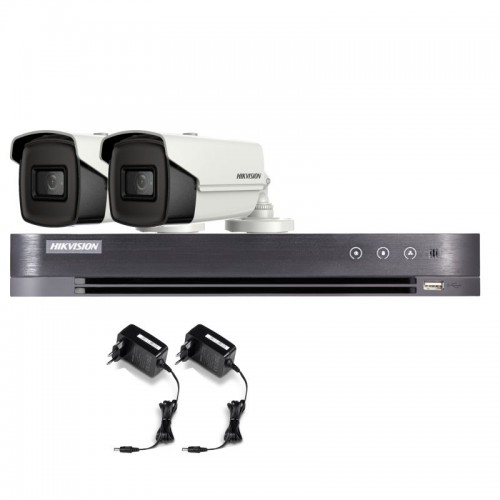 T25E36B – Hikvision 5MP Tubular Turbo HD Kit