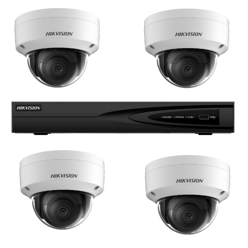 NK44E28D – Hikvision 4MP Darkfighter Dome PoE Kit