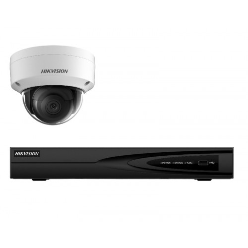 NK14E28D – Hikvision 4MP Darkfighter Dome PoE Kit