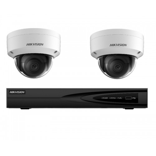 NK24E28D – Hikvision 4MP Darkfighter Dome PoE Kit