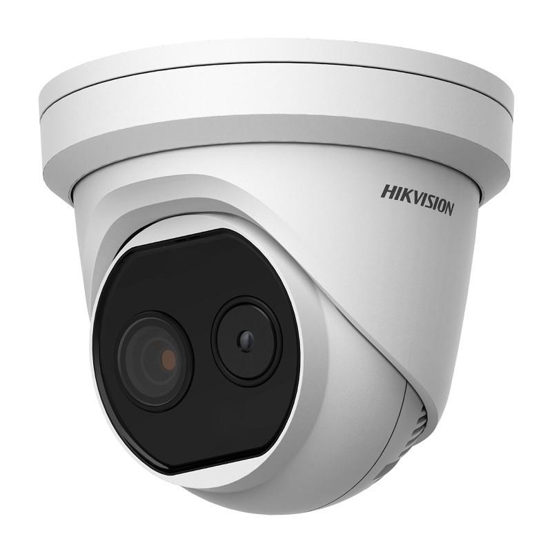 DS-2TD1217-6/V1 – Тепловая и оптическая сетевая мини-купольная IP камера