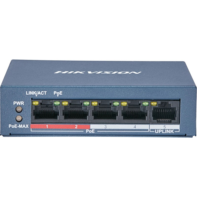 DS-3E0105P-E – 4 Port Fast Ethernet Unmanaged POE Switch