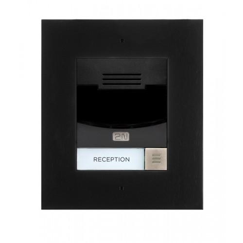 2N® IP Solo – Sans caméra, Installation dans le mur 9155301BF (noir)